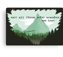 Firewatch Lord of the Rings Tokien Quote Green Canvas Print