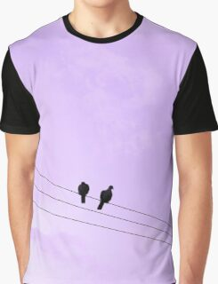 Two Birds on a Wire Graphic T-Shirt