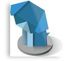 origami dog, vector image, website Metal Print