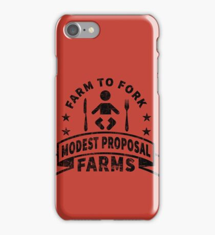 Modest Proposal - From Farm to Fork iPhone Case/Skin