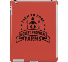 Modest Proposal - From Farm to Fork iPad Case/Skin