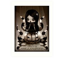 Halloween Doll Art Print