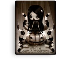 Halloween Doll Canvas Print