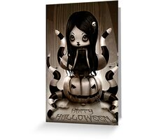 Halloween Doll Greeting Card