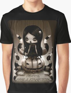 Halloween Doll Graphic T-Shirt