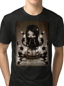 Halloween Doll Tri-blend T-Shirt