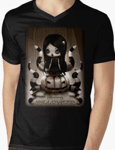Halloween Doll Mens V-Neck T-Shirt