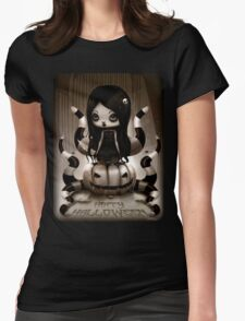 Halloween Doll Womens Fitted T-Shirt
