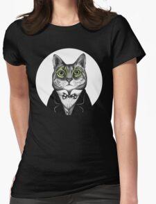 gentleman cat Womens Fitted T-Shirt