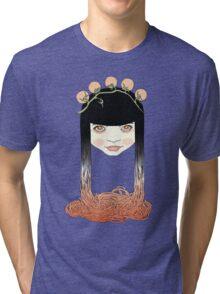 Spaghetti girl Tri-blend T-Shirt