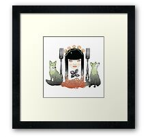 Spaghetti girl Framed Print