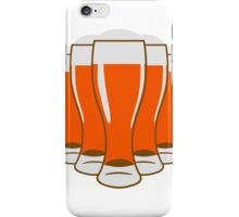 Beer drinking beer glass iPhone Case/Skin