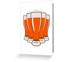 Beer drinking beer glass Greeting Card