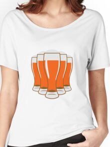 Beer drinking beer glass Women's Relaxed Fit T-Shirt