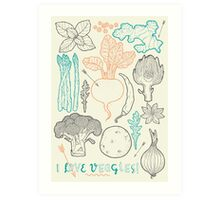 I love vegetables! Art Print