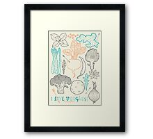I love vegetables! Framed Print