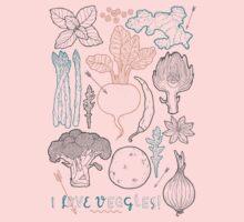 I love vegetables! Kids Tee