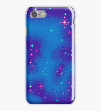 Indigo Nebula (8bit) iPhone Case/Skin