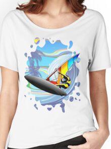 Windsurfer on Ocean Waves Women's Relaxed Fit T-Shirt