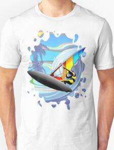 Windsurfer on Ocean Waves Unisex T-Shirt