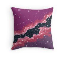 Pink Rift Galaxy (8bit) Throw Pillow