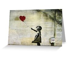Banksy's Girl with a Red Balloon Greeting Card