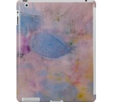 Colorful abstract Ink design blue red yellow Textile print iPad Case/Skin