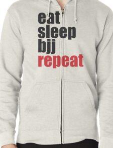 Eat Sleep BJJ Repeat (Brazilian Jiu Jitsu)  Zipped Hoodie