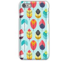 Fun Feathers (blue version) iPhone Case/Skin