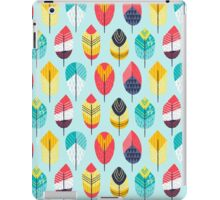 Fun Feathers (blue version) iPad Case/Skin