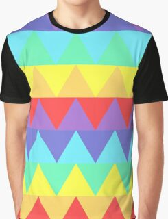 Pastel Rainbow Triangles Graphic T-Shirt