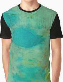 Colorful Abstract Print Design in Green  Graphic T-Shirt