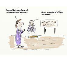 Meditation Guru Cartoon/Comic Humour/Humor Photographic Print