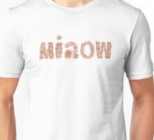 Lettering 'miaow' with oil pastels Unisex T-Shirt