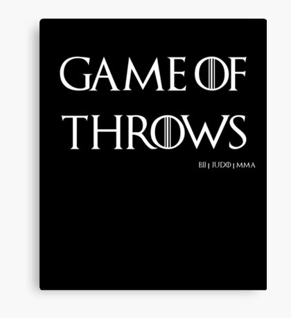 Game of Throws (BJJ, MMA, Judo) Canvas Print