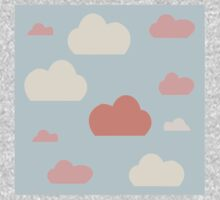 Cloud pink blue sky Kids Tee