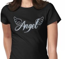 Angel with Wings Womens Fitted T-Shirt