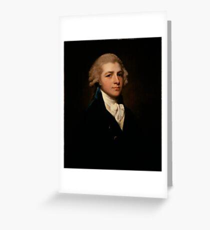Portrait of Richard Palmer, George Romney Greeting Card
