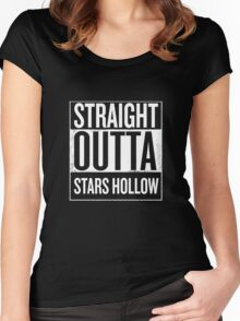 Straight Outta Stars Hollow Women's Fitted Scoop T-Shirt