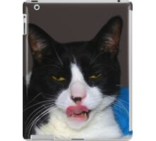 HUNGRY TUXEDO CAT iPad Case/Skin