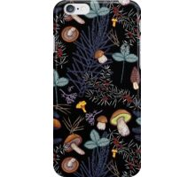 dark wild forest mushrooms iPhone Case/Skin