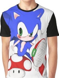 The hedgehog and the champigñon Graphic T-Shirt