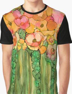 Wild Poppy Garden - Gold Graphic T-Shirt