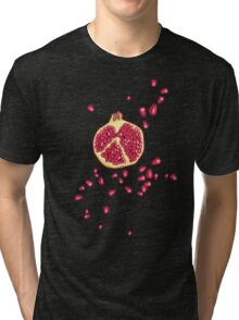 pomegranate pattern Tri-blend T-Shirt