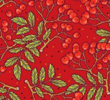 Red rowan pattern. Sticker