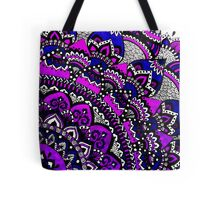 Purple & Black Mandala Tote Bag