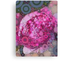Percolated Peony Bloom Canvas Print