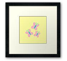 Fluttershy Cutie Mark Framed Print