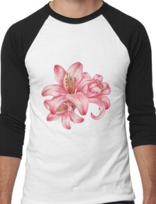 lily flowers_3 Men's Baseball ¾ T-Shirt
