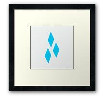 Rarity Cutie Mark Framed Print